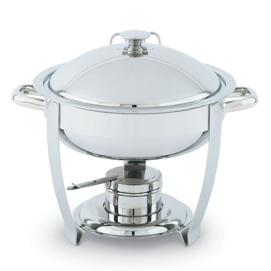 Vollrath 46502 Oval Chafer w/ Lift-off Lid & Chafing Fuel Heat