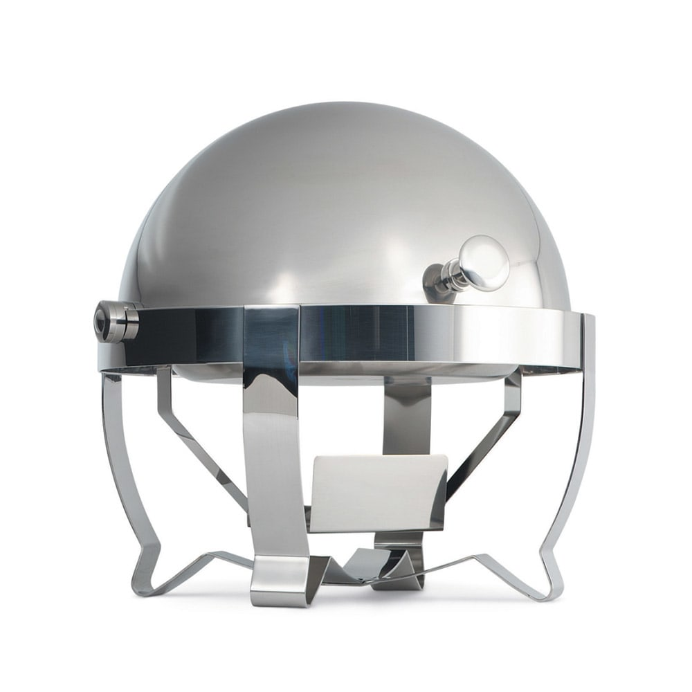 Vollrath 46530 6 qt. Round Chafer w/Roll-top Lid & Chafing Fuel Heat