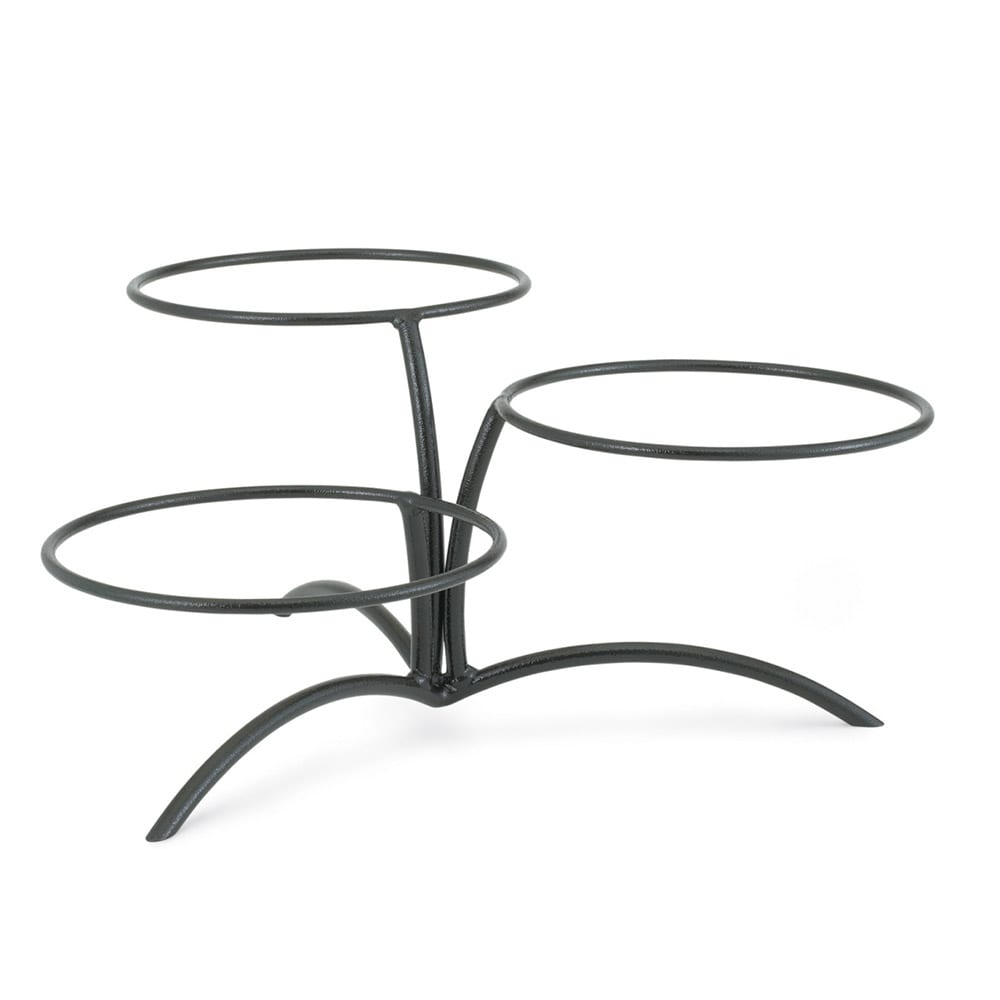 Vollrath 46540 Elevation Buffet Table Stand - Offset Elevations, Black