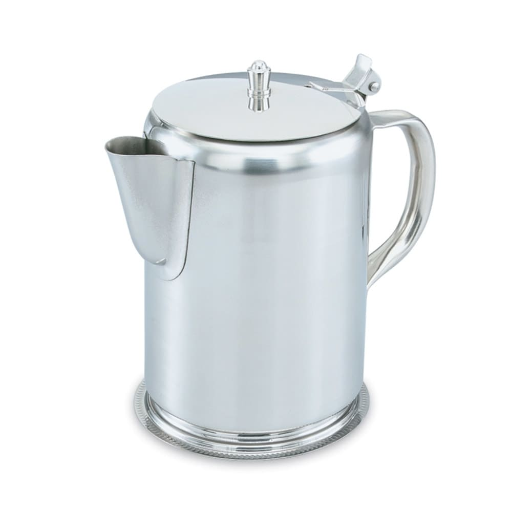 Vollrath 46565 2 qt Coffee Server - Hinged Cover, Gadroon Base, Stainless
