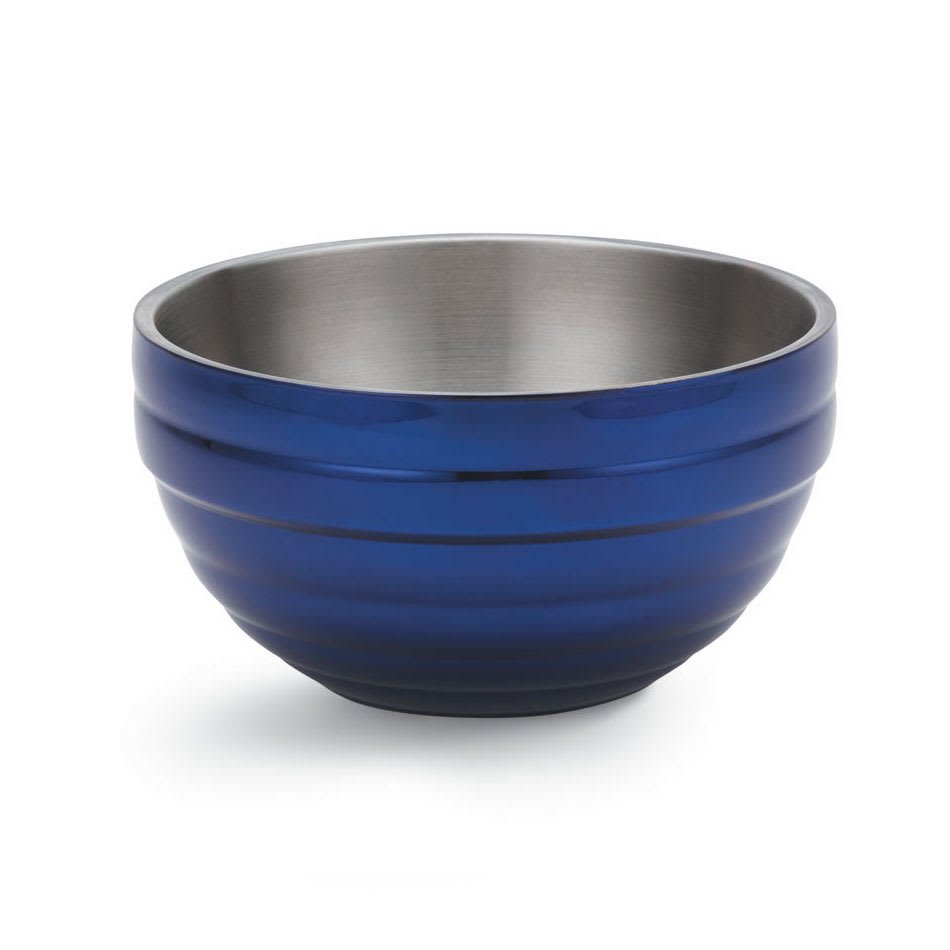 Vollrath 4656925 10.1 qt Round Insulated Bowl - Stainless, Cobalt Blue