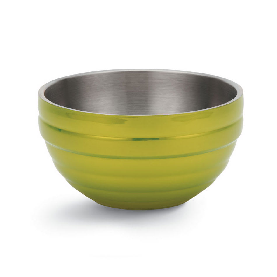 Vollrath 46569-30 10.1-qt Round Insulated Bowl - Stainless, Lemon-Lime