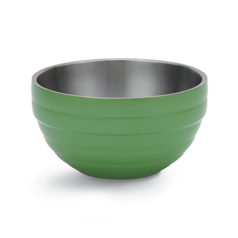Vollrath 4656935 10.1 qt Round Insulated Bowl - Stainless, Green Apple