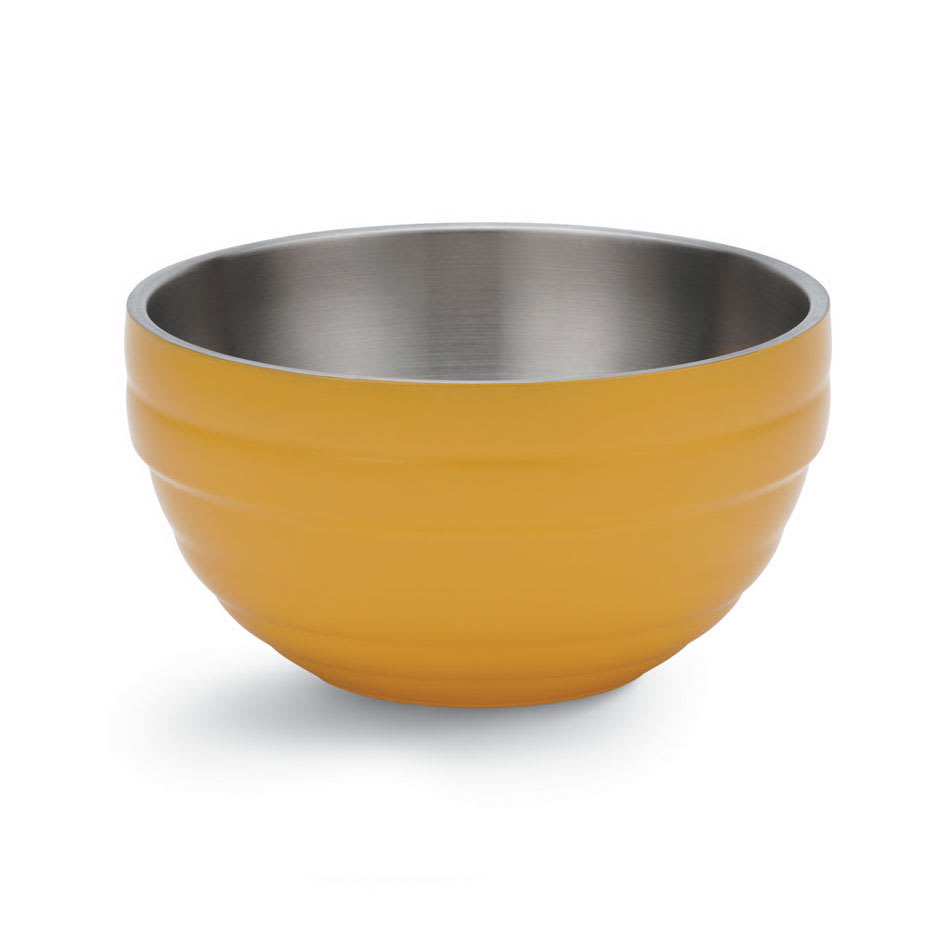 Vollrath 46569-45 10.1-qt Round Insulated Bowl - Stainless, Nugget Yellow