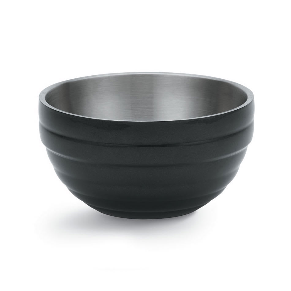 Vollrath 46569-60 10.1-qt Round Insulated Bowl - Stainless, Black