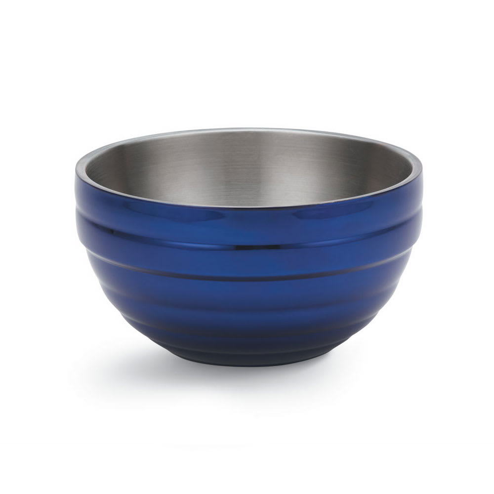Vollrath 4659025 1.7 qt Round Insulated Bowl - 18 ga Stainless, Cobalt Blue