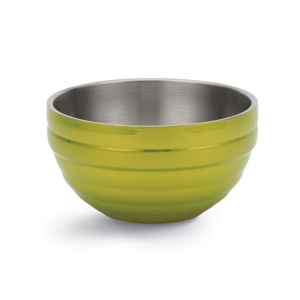 Vollrath 46590-30 1.7-qt Round Insulated Bowl - 18-ga Stainless, Lemon-Lime