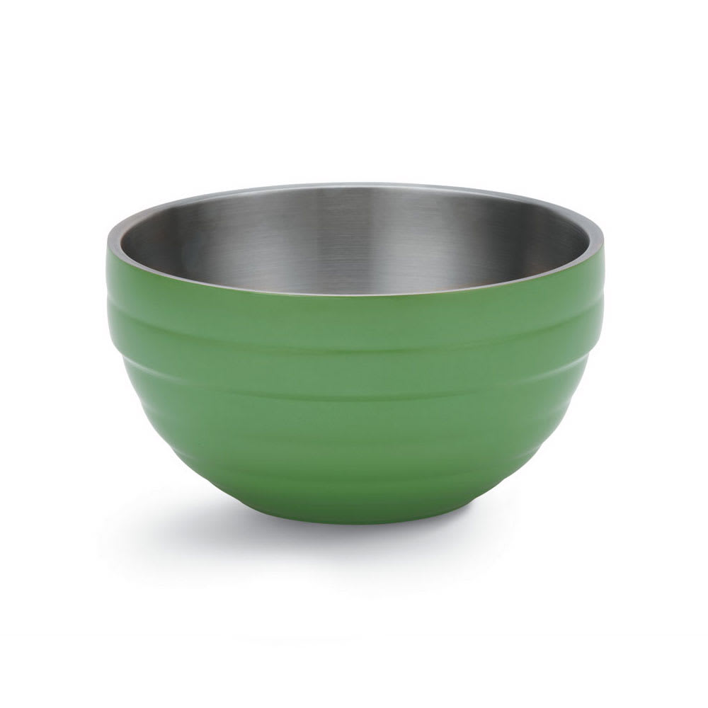 Vollrath 4659035 1.7 qt Round Insulated Bowl - 18 ga Stainless, Green Apple