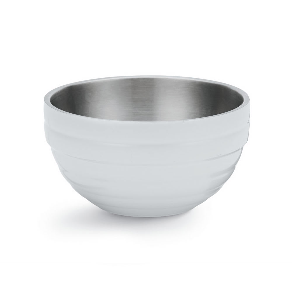 Vollrath 46590-50 1.7-qt Round Insulated Bowl - 18-ga Stainless, Pearl White