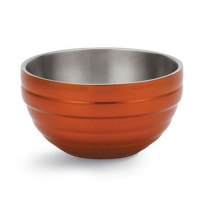 Vollrath 46591-10 3.4-qt Round Insulated Bowl - 18-ga Stainless, Metallic Tangelo