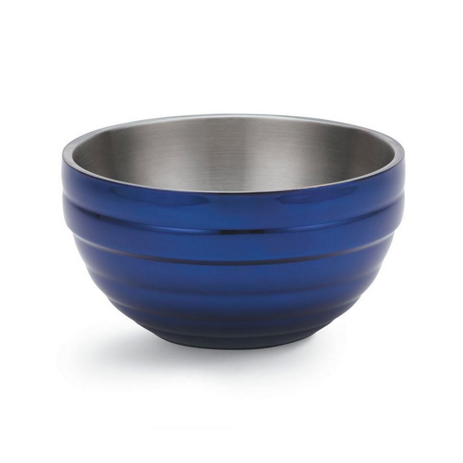Vollrath 4659125 3.4 qt Round Insulated Bowl - 18 ga Stainless, Cobalt Blue