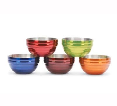 Vollrath 46592-10 6.9-qt Round Insulated Bowl - 18-ga Stainless, Metallic Tangelo