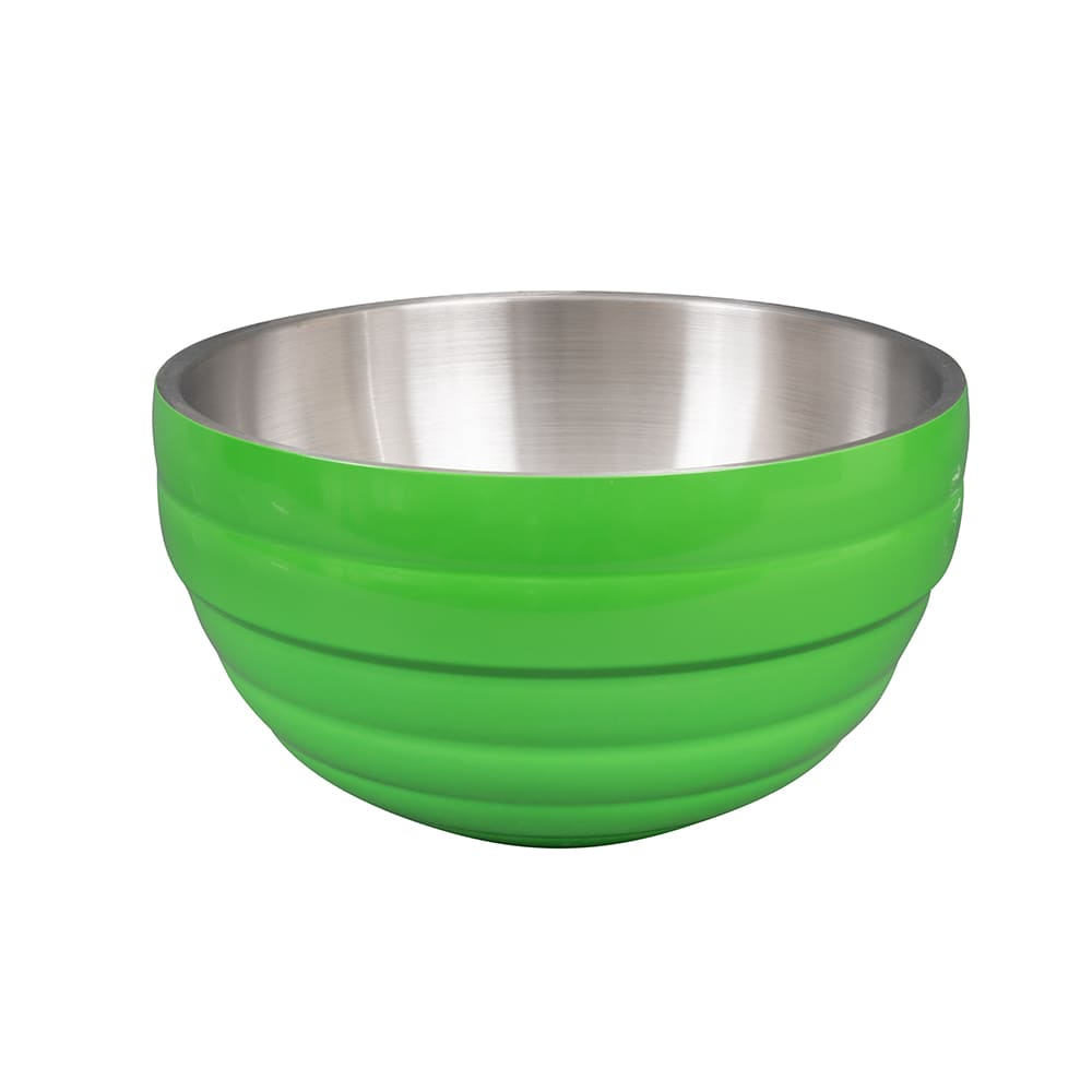 Vollrath 46592-35 6.9 qt Round Insulated Bowl - 18 ga Stainless, Green Apple