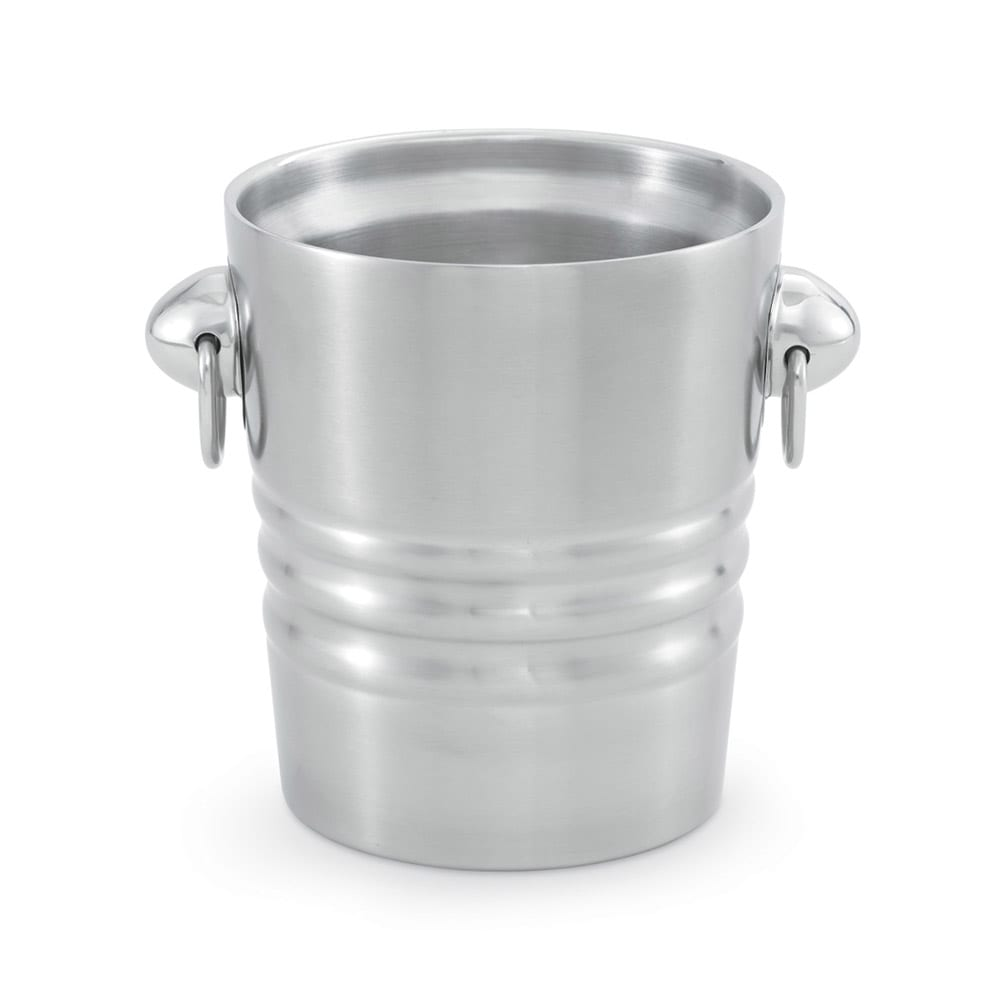 Vollrath 46616 2.1 qt Insulated Wine/Champagne Bucket - Satin-Finish Stainless