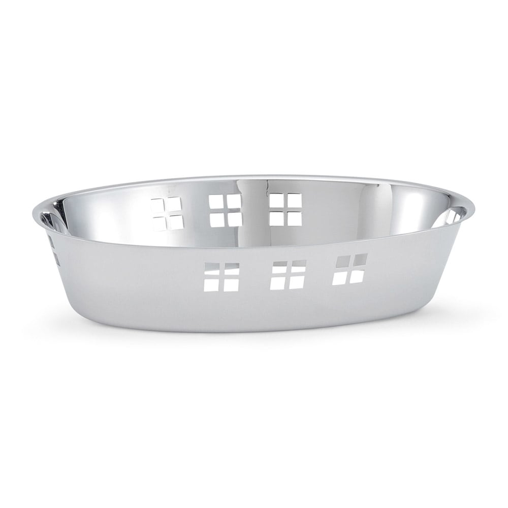 Vollrath 46624 55 oz Oval Serving Bowl - Mirror-Finish Stainless