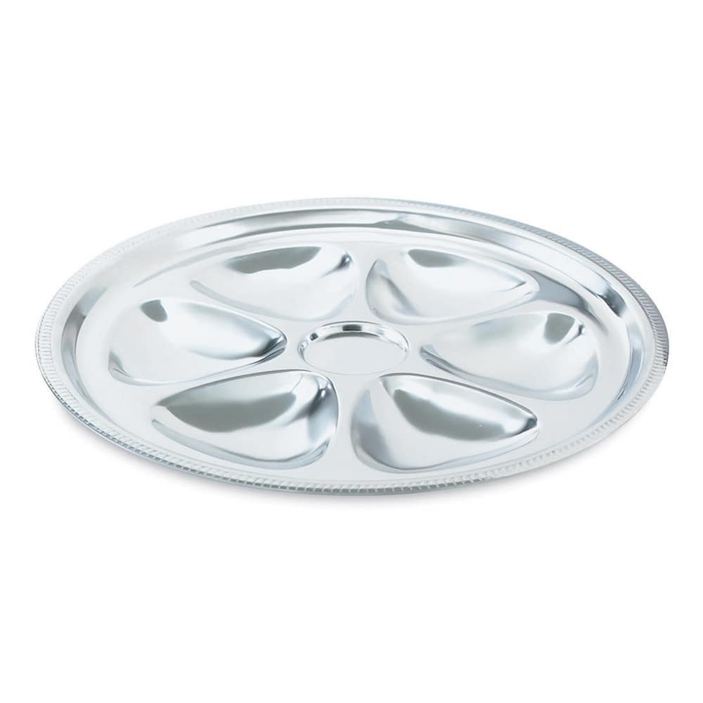 Vollrath 46745 6 Hole Oyster Plate - Stainless
