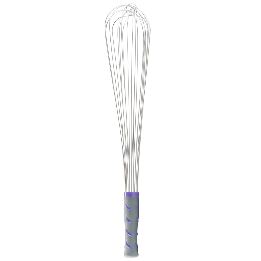 "Vollrath 47006 18"" Piano Whip - Purple Nylon Handle, Stainless"