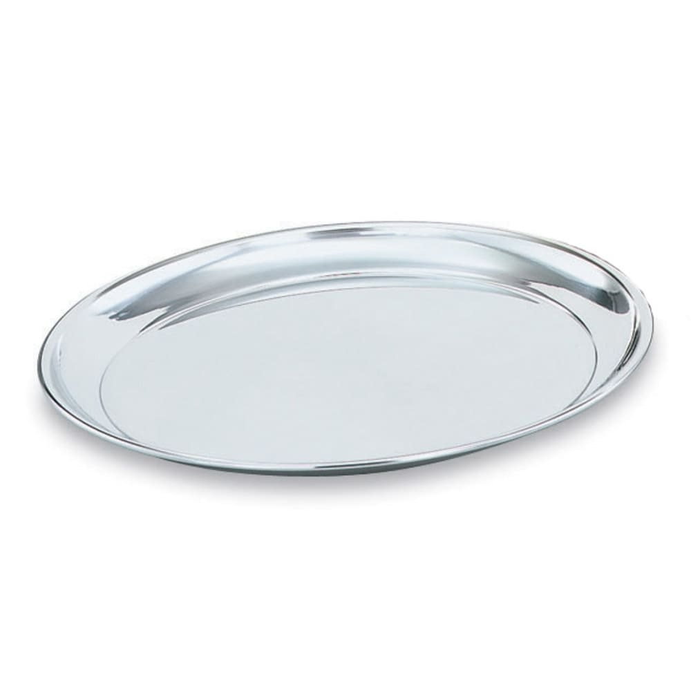 """Vollrath 47214 13-7/8"""" Round Serving Tray - Stainless"""