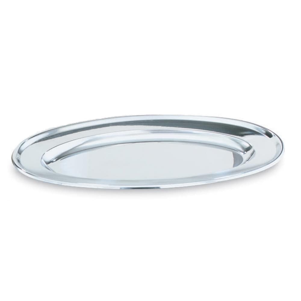 "Vollrath 47234 13-3/4"" Oval Platter - Stainless"