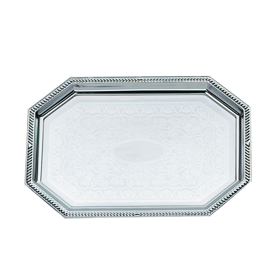 "Vollrath 47261 Octagon Serving Tray - 17 1/8x10"" Chrome Plated"
