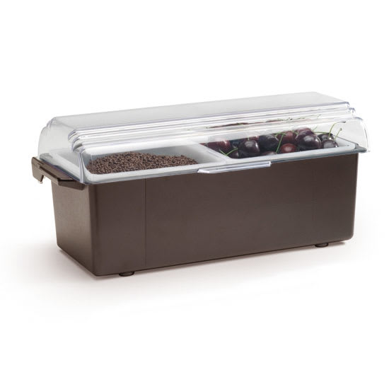 Vollrath 4740-01 2-qt Condiment Dispenser Standard Lid - Plastic, Brown