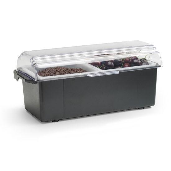 Vollrath 4740-06 2 qt Condiment Dispenser Standard Lid - Plastic, Black