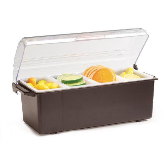 Vollrath 4741-01 4 Pt Condiment Dispenser Standard Lid - Plastic, Brown