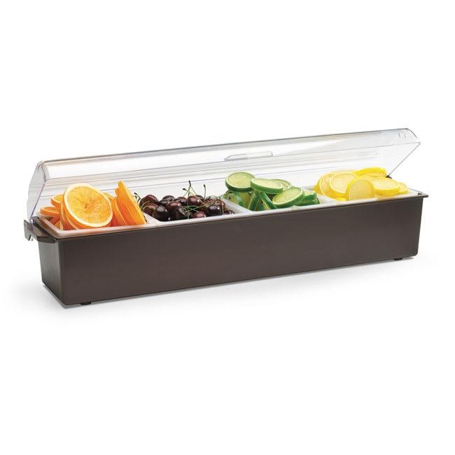Vollrath 4745-01 4-qt Condiment Dispenser Standard Lid - Plastic, Brown