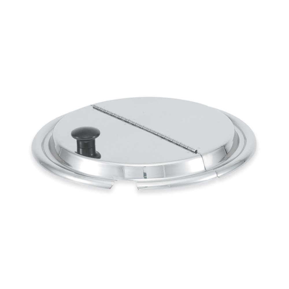 Vollrath 47486 4 1/8 qt Hinged Inset Cover - Mirror-Finish Stainless