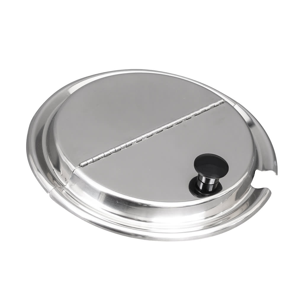 Vollrath 47488 Hinged Inset Cover - Mirror-Finish Stainless