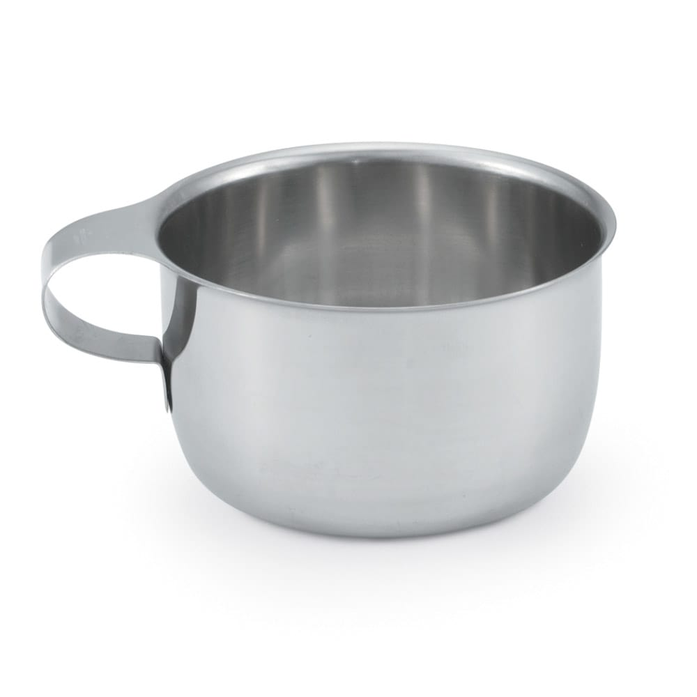 Vollrath 47555 9 oz Drinking/Soup Cup - Integral Handle, Stainless