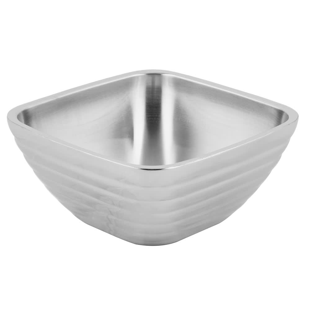 Vollrath 47632 1.8 qt Square Beehive Insulated Bowl - Mirror-Finish Stainless