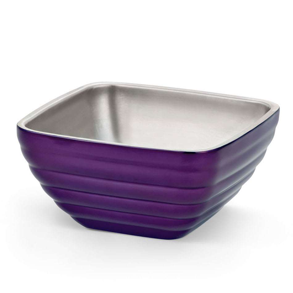 Vollrath 4763265 1.8-qt Square Insulated Bowl - Stainless, Passion Purple