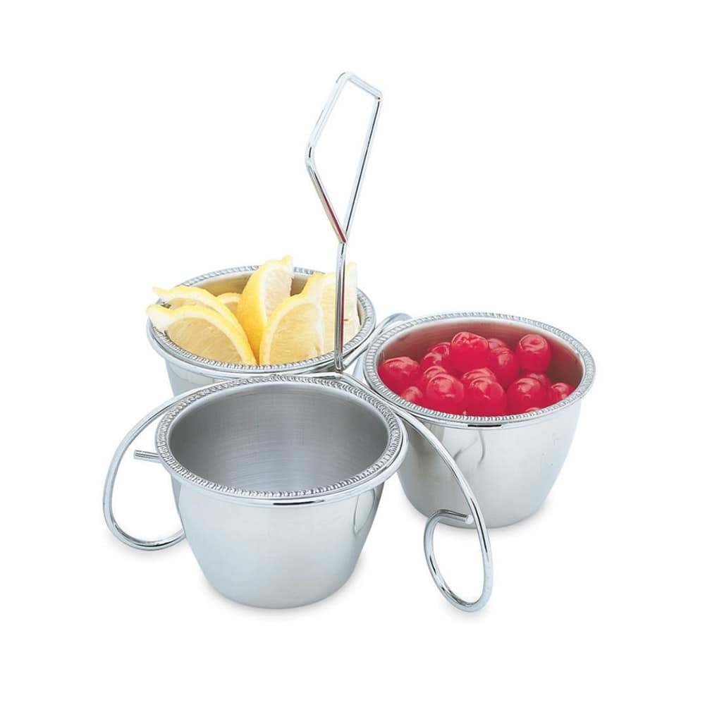 Vollrath 47633 Three-Way Server - (3)10 oz Bowls, Stainless