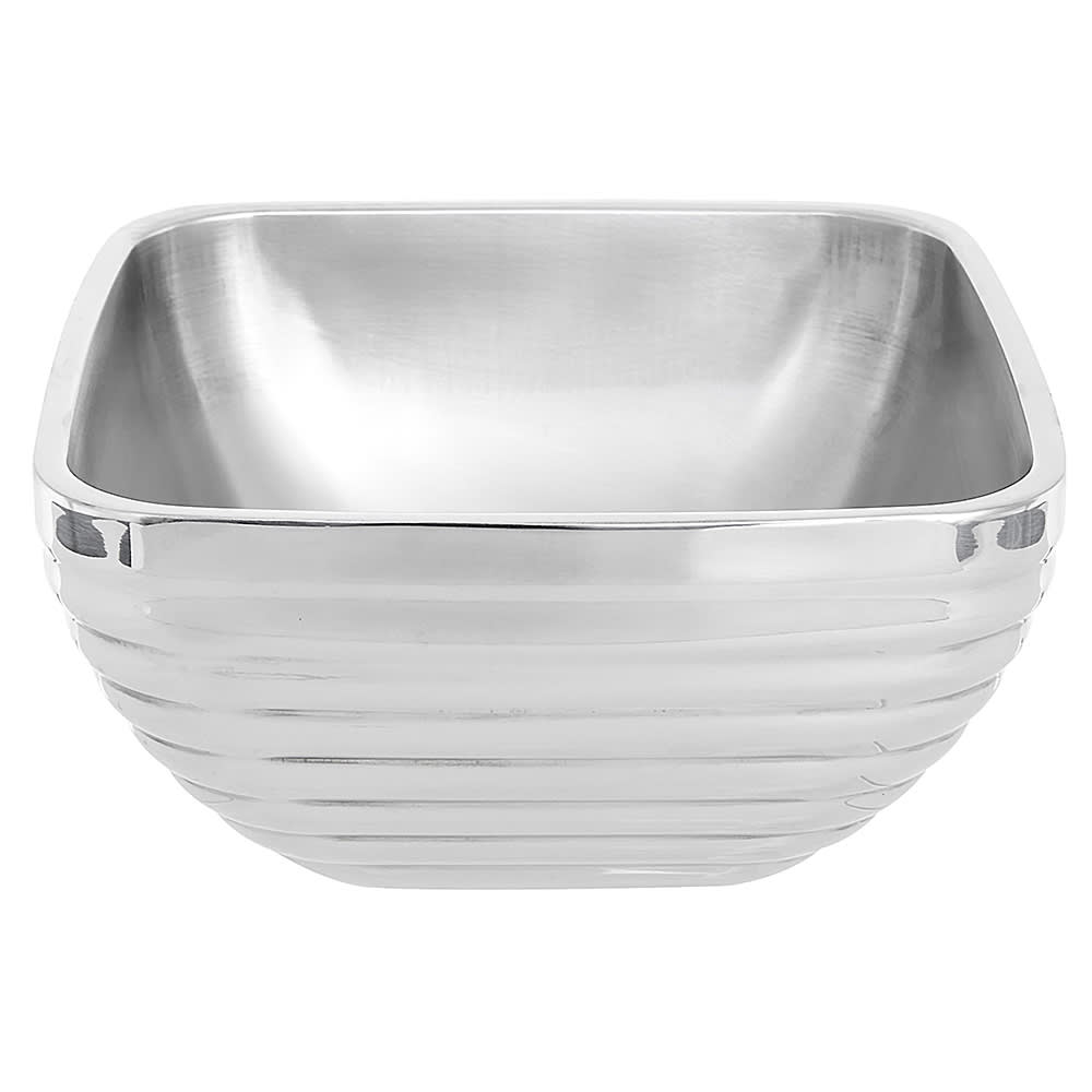 Vollrath 47634 3.2-qt Square Beehive Insulated Bowl - Mirror-Finish Stainless