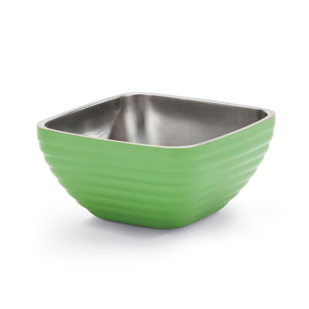 Vollrath 47634-35 3.2-qt Square Insulated Bowl - Stainless, Green Apple