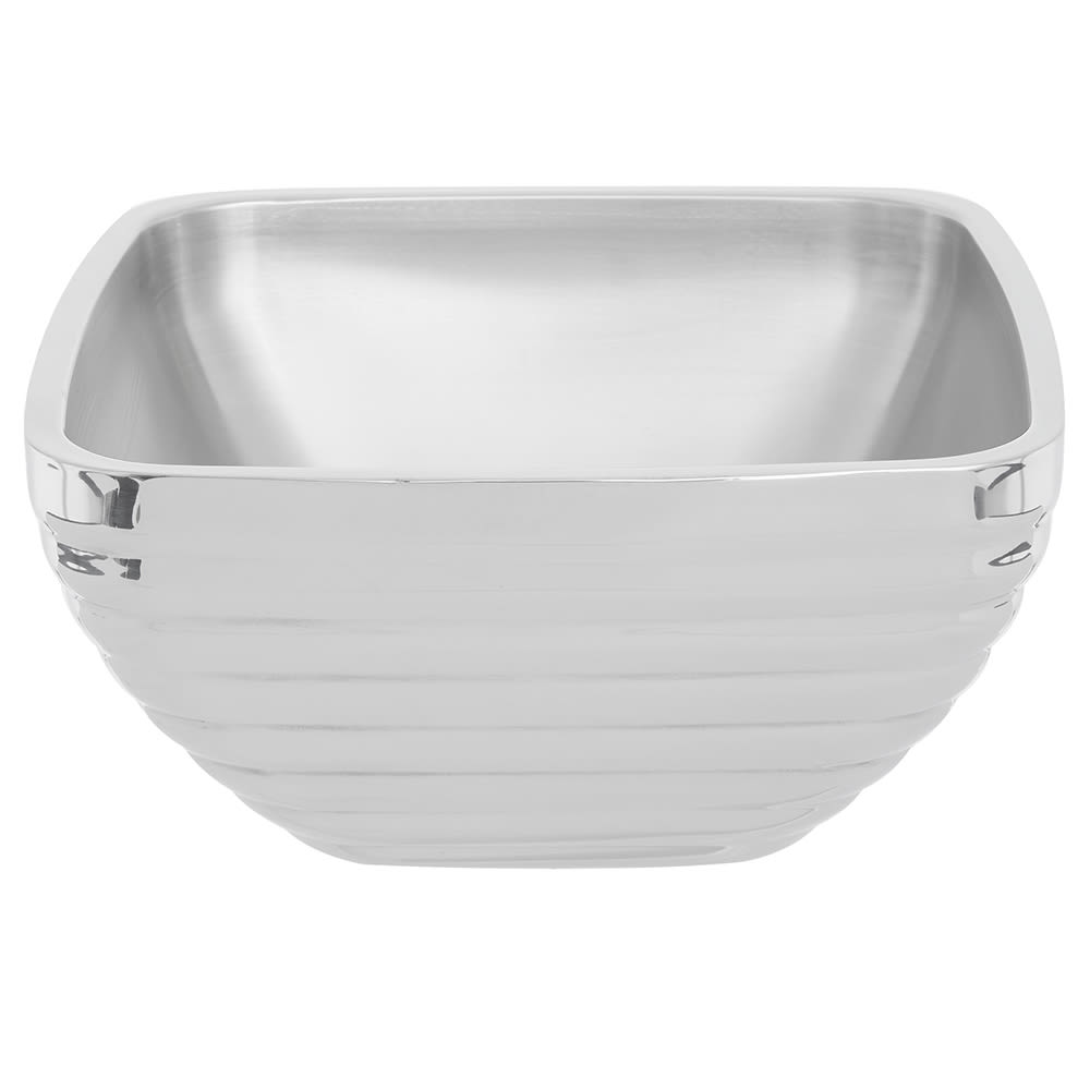Vollrath 47635 5.2-qt Square Beehive Insulated Bowl - Mirror-Finish Stainless