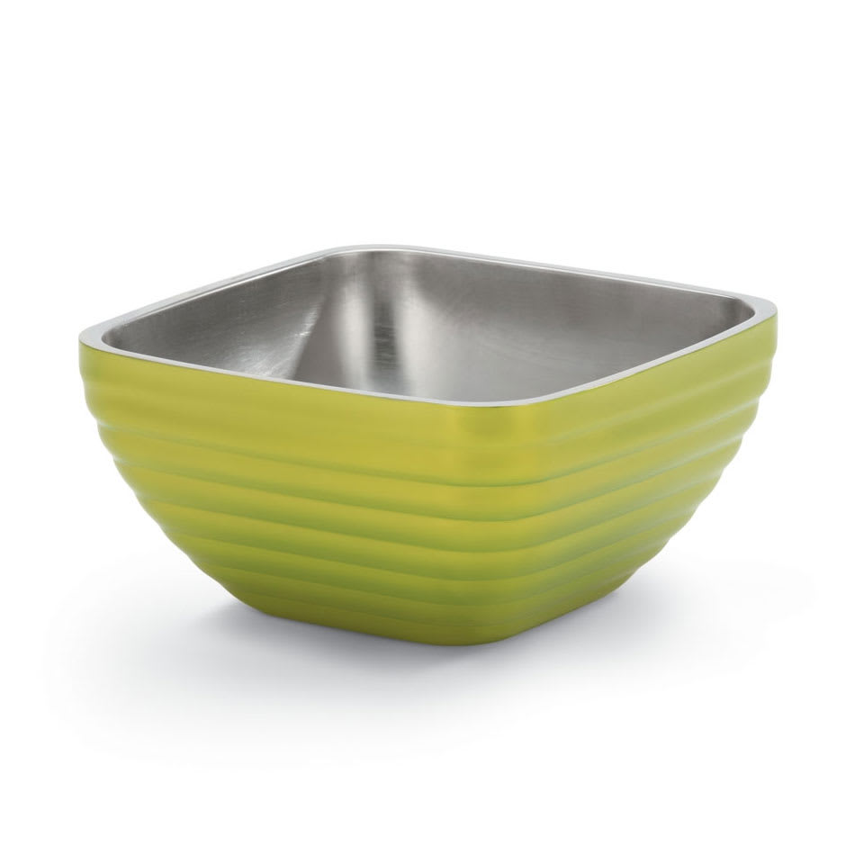 Vollrath 47635-30 5.2-qt Square Insulated Bowl - Stainless, Lemon-Lime