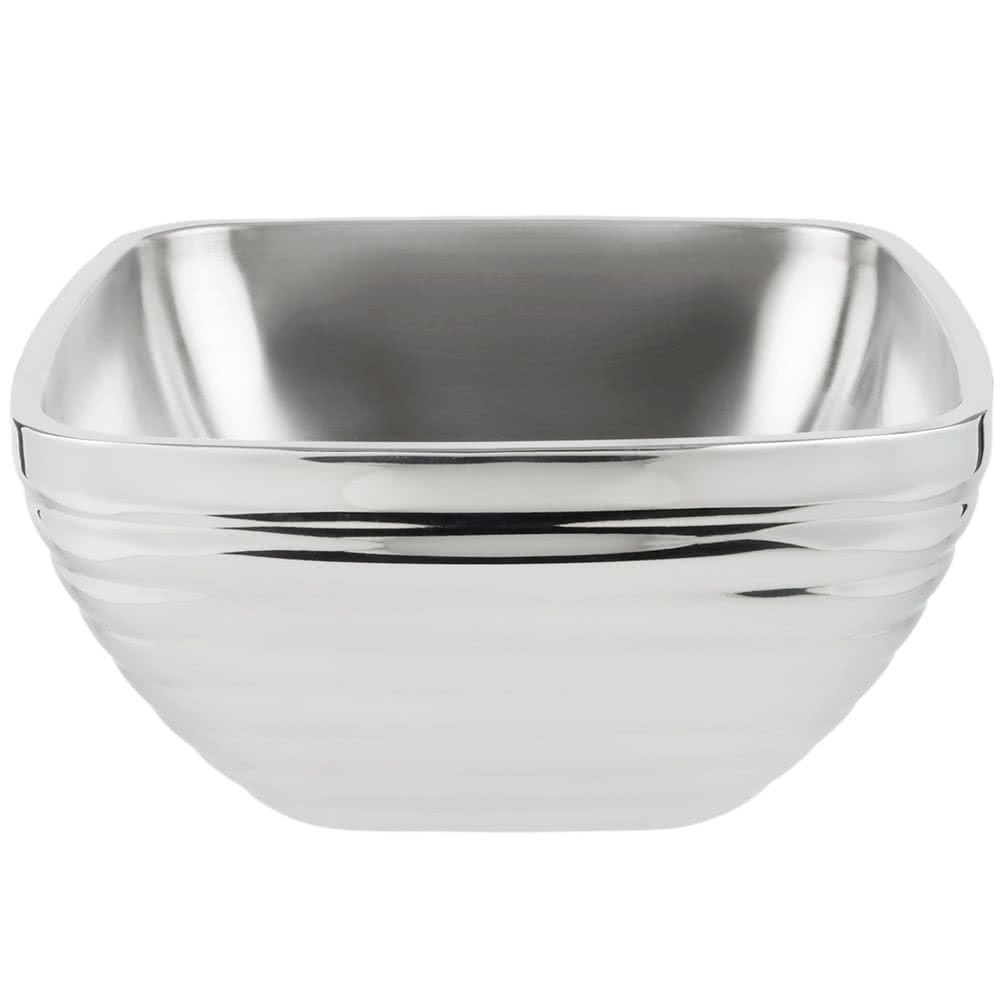 Vollrath 47637 8.2 qt Square Beehive Insulated Bowl - Mirror-Finish Stainless