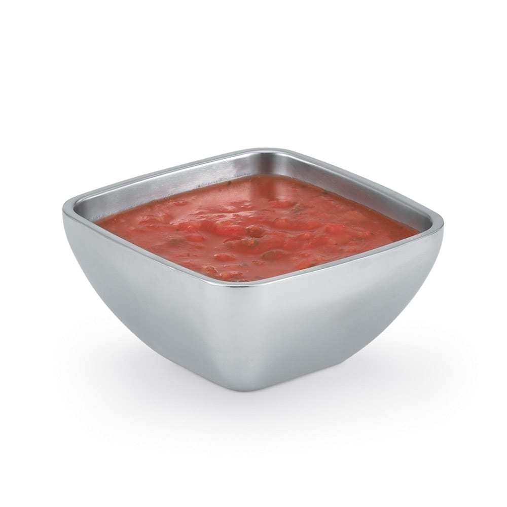 Vollrath 47659 .75-qt Square Plain Insulated Bowl - Mirror-Finish Stainless