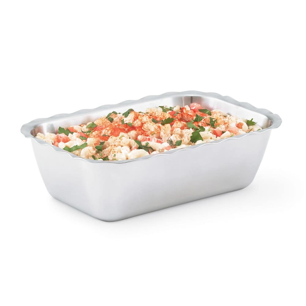 Vollrath 47665 2-qt Rectangular Insulated Bowl - Mirror-Finish Stainless