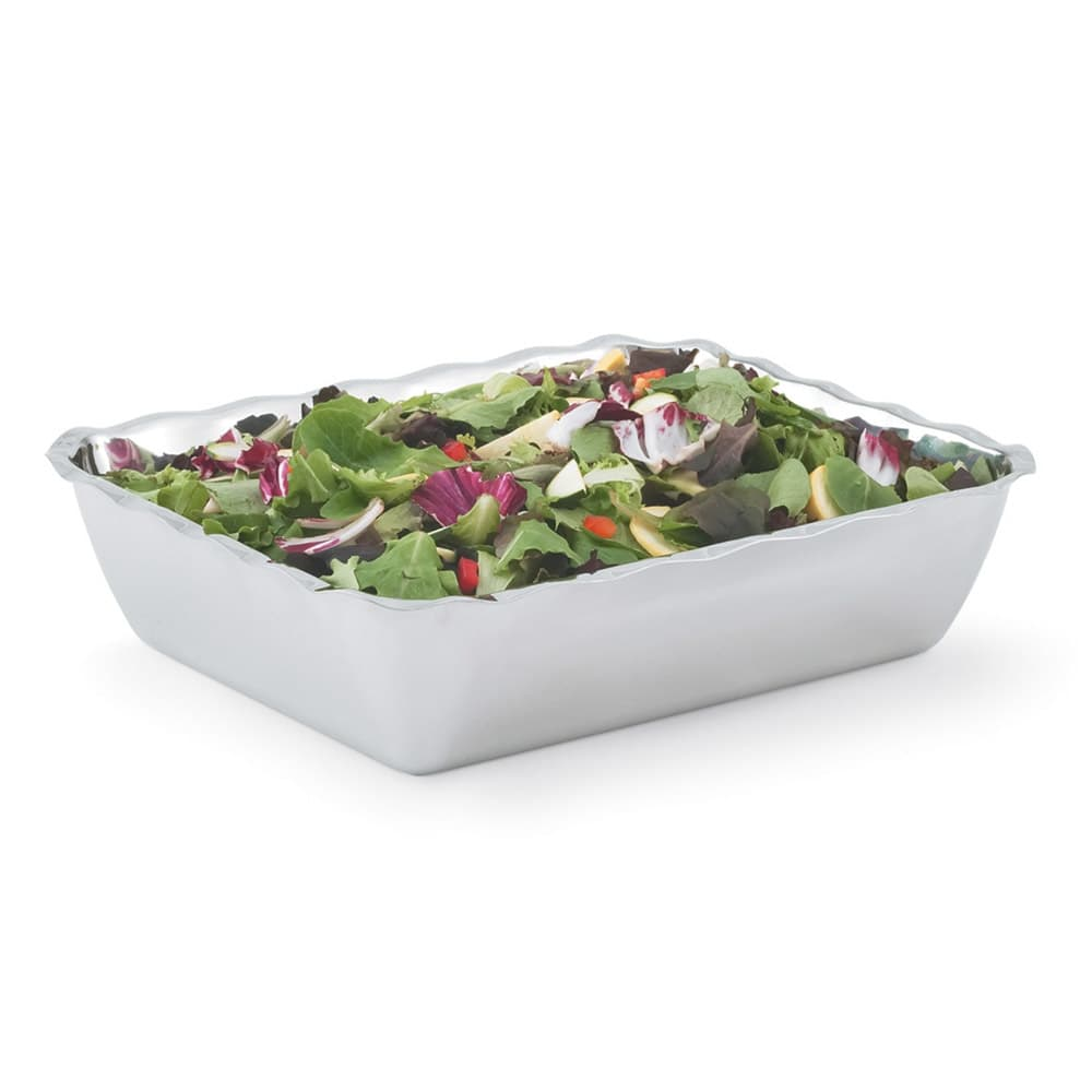 Vollrath 47666 4.3-qt Rectangular Insulated Bowl - Mirror-Finish Stainless