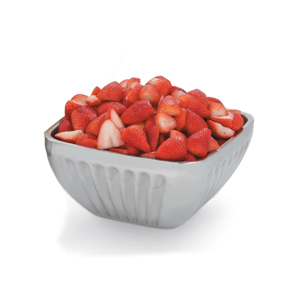 Vollrath 47682 3.2 qt Square Plain Insulated Bowl - Satin-Finish Stainless