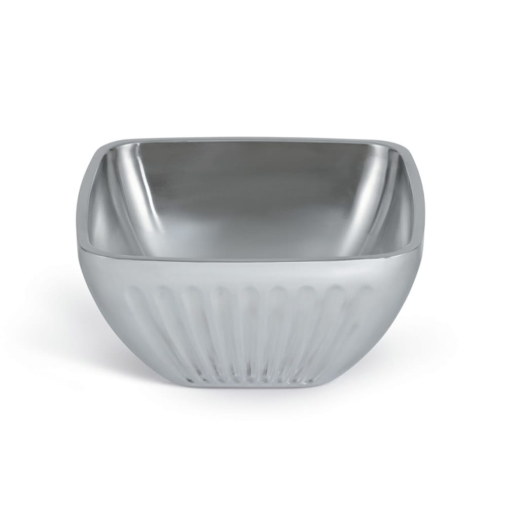 Vollrath 47683 5.2 qt Square Plain Insulated Bowl - Satin-Finish Stainless
