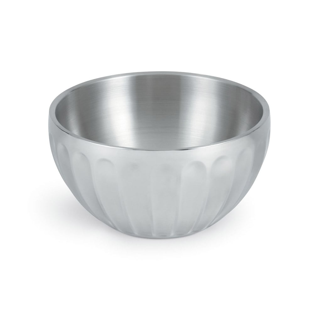 Vollrath 47688 6.9 qt Round Insulated Serving Bowl - Mirror-Finish Stainless
