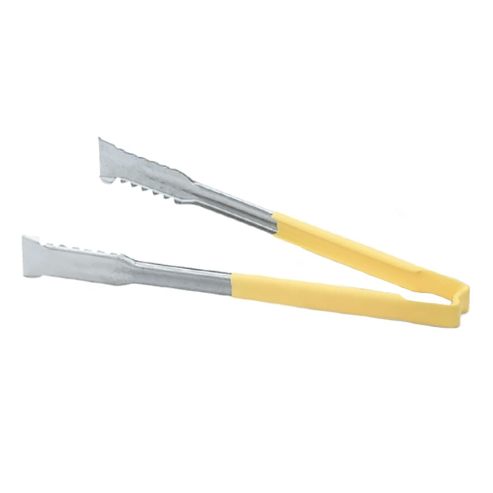 "Vollrath 4791650 16""L Stainless Utility Tongs, Yellow"