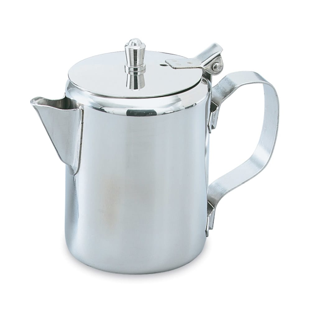 Vollrath 48317 16 oz Creamer/Server - Hinged Cover, Gadroon Base, Silverplated