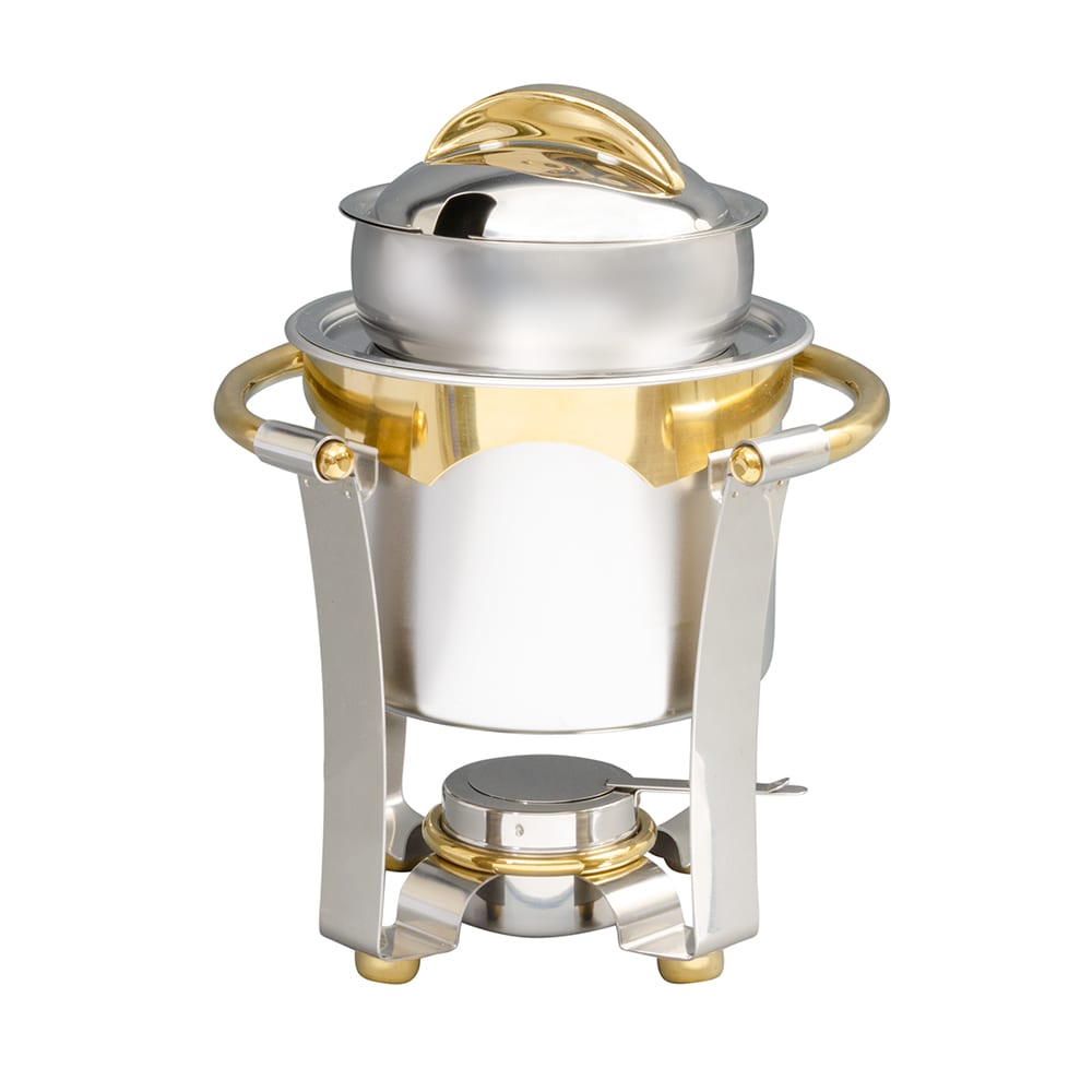 Vollrath 48326 Round Chafer w/ Lift-off Lid & Chafing Fuel Heat