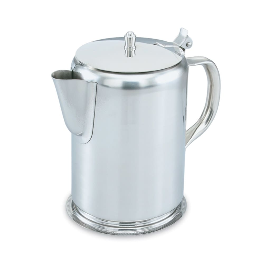 Vollrath 48365 2 qt Coffee Server - Hinged Cover, Gadroon Base, Silverplated