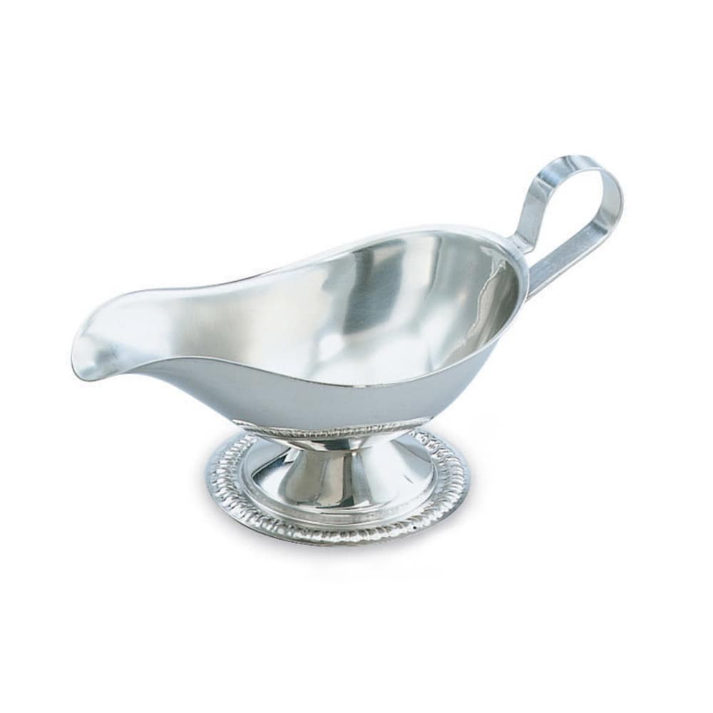 Vollrath 48378 8 oz Gravy/Sauce Boat - Gadroon Base, Silverplated